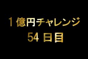 1億チャレンジ54日目